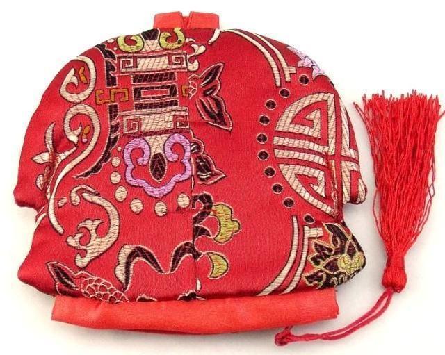 النمط الصيني الشرابة الصغيرة البريدي حقيبة عيد الميلاد عملة المحفظة حزب الحسنات الأزياء الحرفية الحرير القطيفة مجوهرات الحقيبة هدية أكياس التعبئة والتغليف