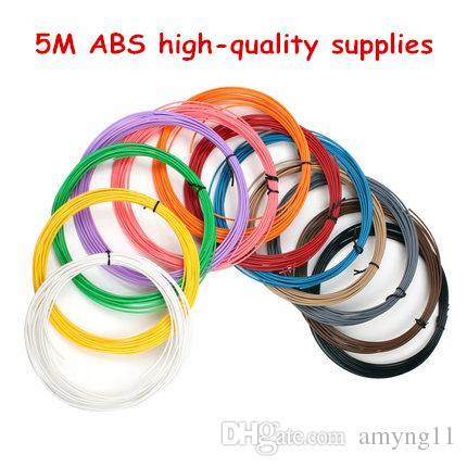 20 цветов 5M / цветная печать нить ABS / PLA 1.75mm пластиковый материал для 3D пера рисования и печати игрушки DIY печать рейсфедера