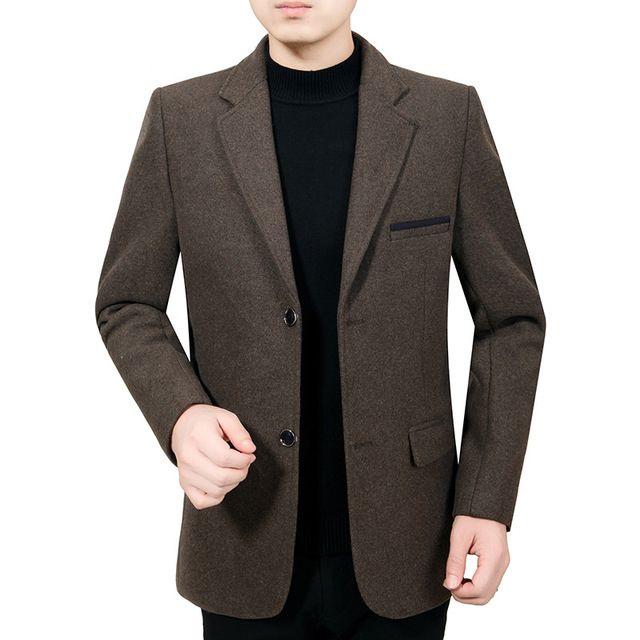 Nuovo caldo di vendita di marca autunno e vestito di lana solido giacca di colore degli uomini di inverno di modo casuale giacca sportiva da Uomo Slim