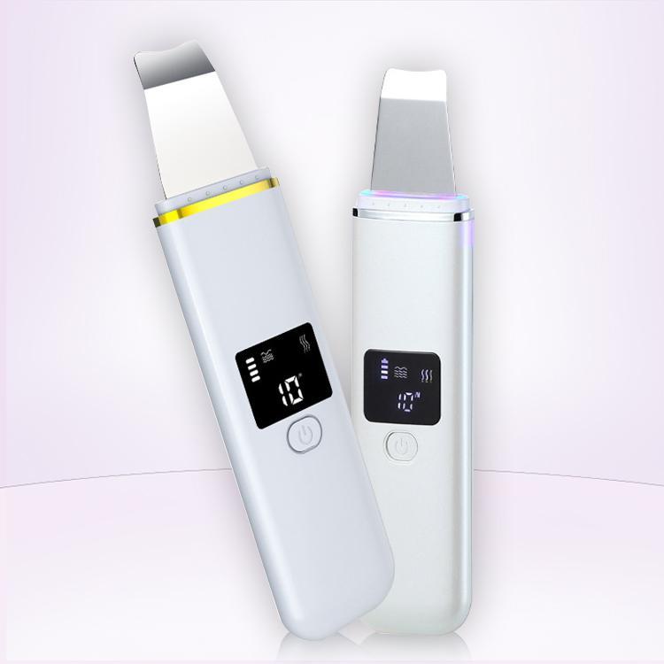 Ultrasónica cara blanquear la piel reafirmante pala lavador dispositivo de la piel facial peeling Ultrasion máquina pala de belleza para la venta