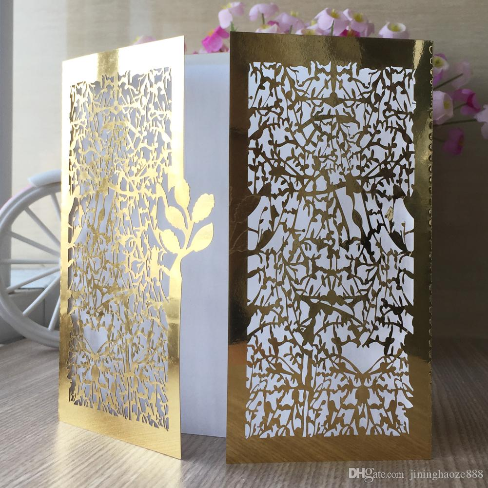 20pcs / lot Tree Seedlings Wedding Invitations Card Envelope Apply To Marriage Theme Nature Party Invitation Cards Easter Festival