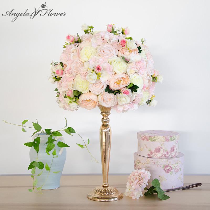 36 centimetri di rosa artificiali tavola di nozze palla decorazioni floreali centrotavola decorazione sfondo partito tavolo strada floreale piombo fiore Vaso Stand