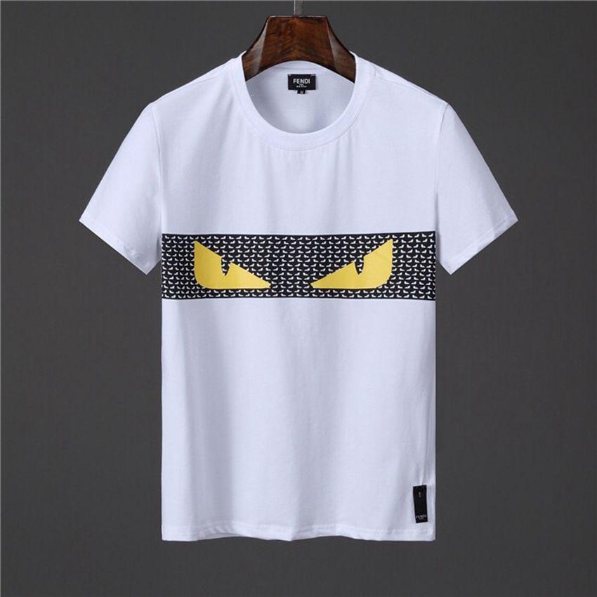 2019 Verão Casual Streetwear T Shirt Dos Homens Designer De Olhos Com Raiva T Camisas de Moda Mens Roupas de Algodão Mistura Tripulação Pescoço de Manga Curta M-3XL LG02