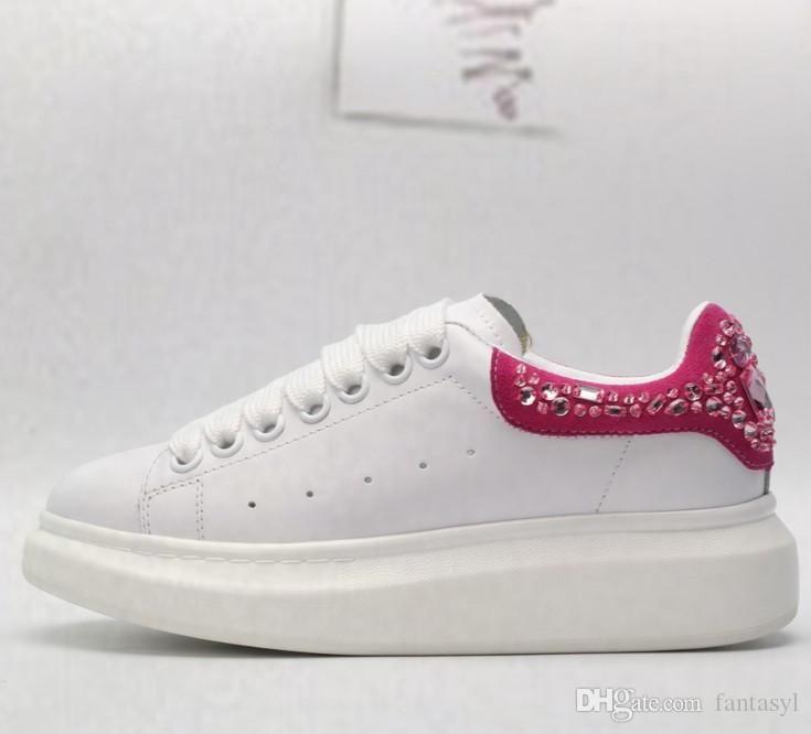 kutu ile 2019 lüks moda rahat tasarımcı kadın ve erkek rahat ayakkabılar ucuz beyaz dikiş dantel deri çift rahat ayakkabı