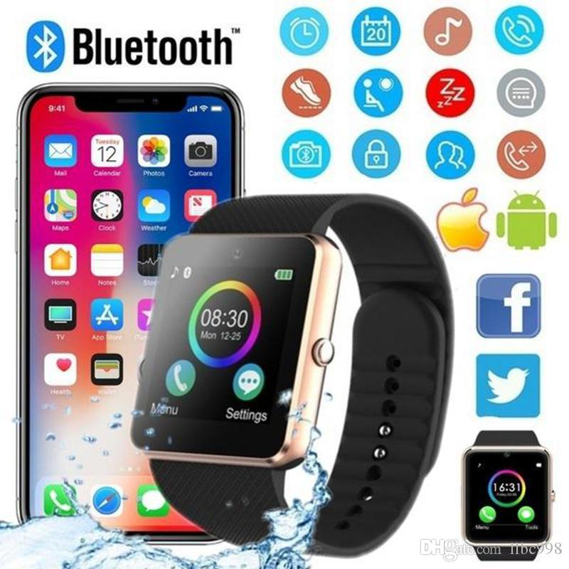 GT08 smart watch with SIM card slot for Android and IOS mobile smart sports Bluetooth watch