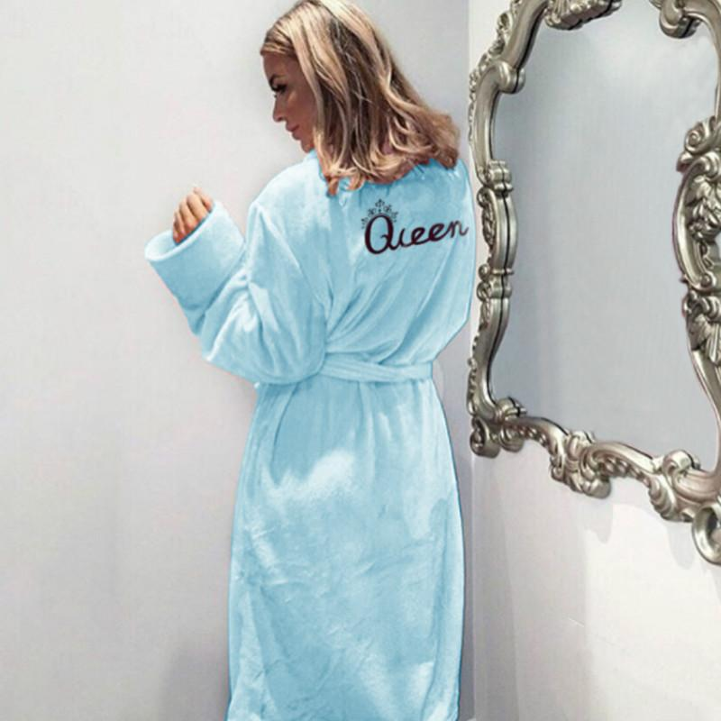 النساء النوم حبل الفانيلا ملكة النوم منامة ربيع الخريف الشتاء معاطف ملابس دافئة