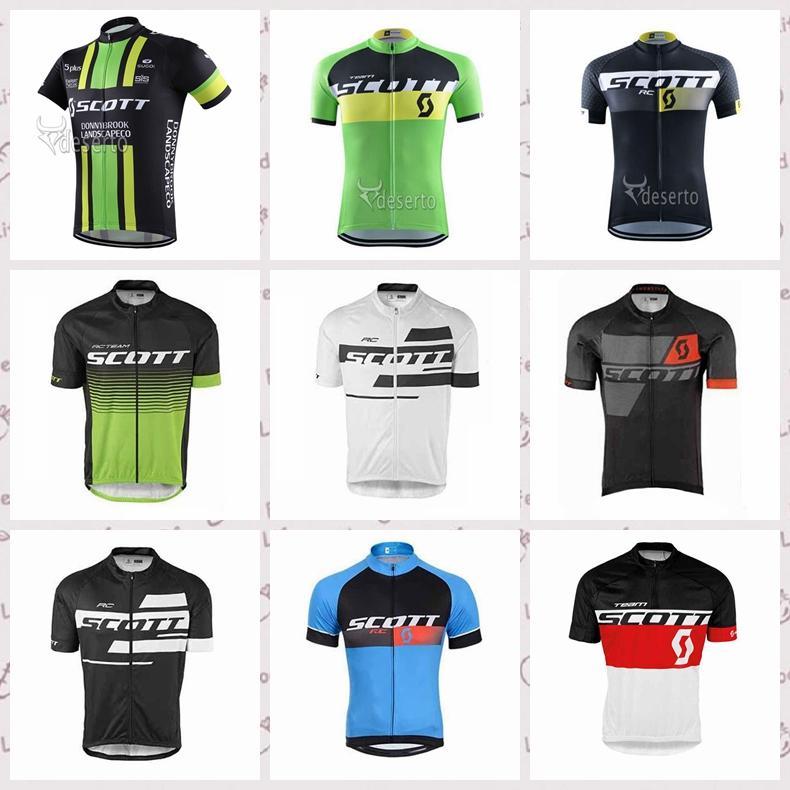personalizado equipe Scott fez confortável camisa de ciclismo manga curta masculina verão resistente ao desgaste à prova de vento esportes respirável exterior Jersey