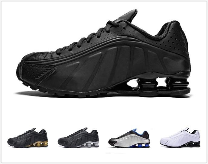 NIKE SHOX R4 301 2019 R4 mens running shoes Novo Design Chaussures DELIVER Black White OZ nz 802 809 Sneakers Og Plus trainers Zapatillas PP03