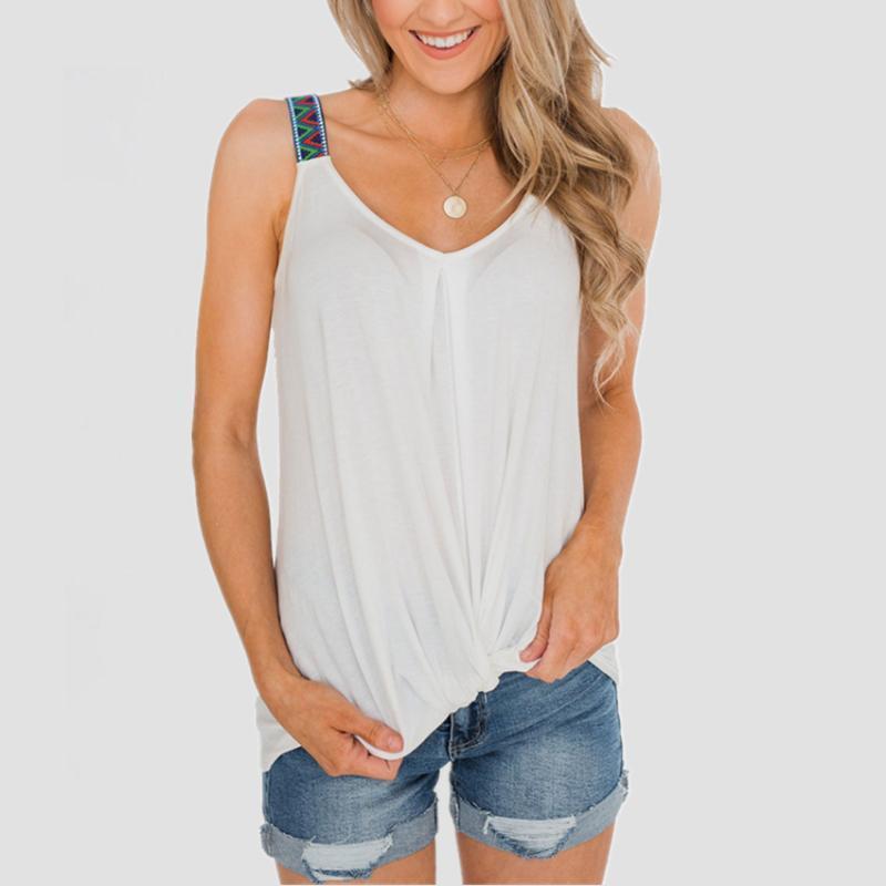2020 V-образный вырез Топы Tee Женщина без рукавов Сыпучей Slim Fit Топов Sexy Soft тройник Vest