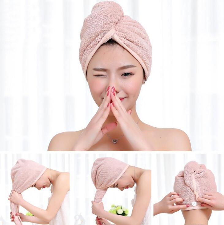La magia de microfibra de secado rápido del pelo Secador toallas de baño Ducha Wrap Cap Sombrero rápida turbante toalla seca 4style LX1374
