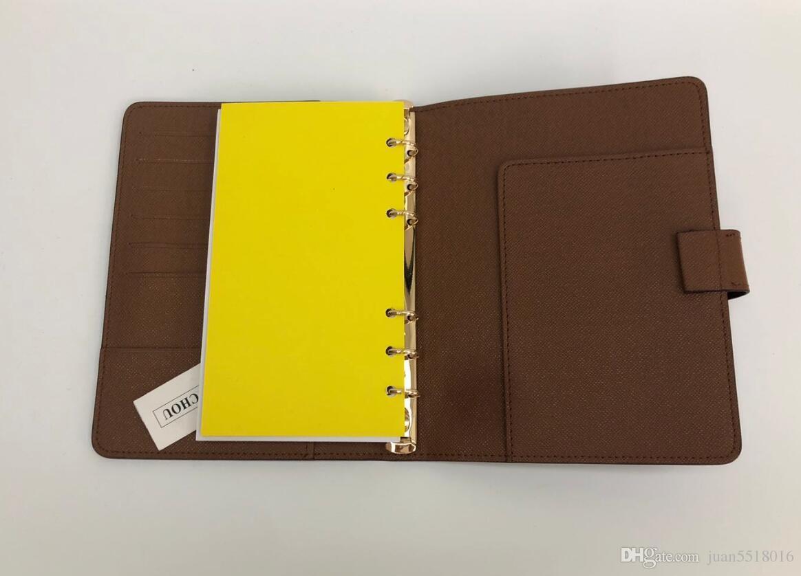 China Marke Agenda Marke Anmerkungsbuch Cover Leder Tagebuch Leder mit Staubbeutel und Kastenkarten Anmerkungsbücher Heißer Verkauf Gold Silber Ring