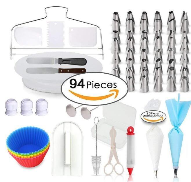 94 pezzi di torta stampo set di strumenti di decorazione della torta cucina di cottura stampaggio Kit Sugarcraft fare stampo per torta biscotto
