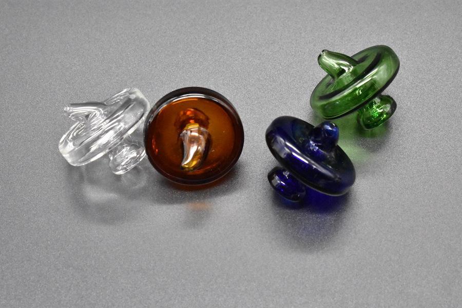 UFO color cuarzo Banger burbuja de Carb del sombrero del casquillo de la bóveda del estilo por un cuarzo térmica P Banger Nails Dabber vidrio Bongs Dab plataformas petrolíferas
