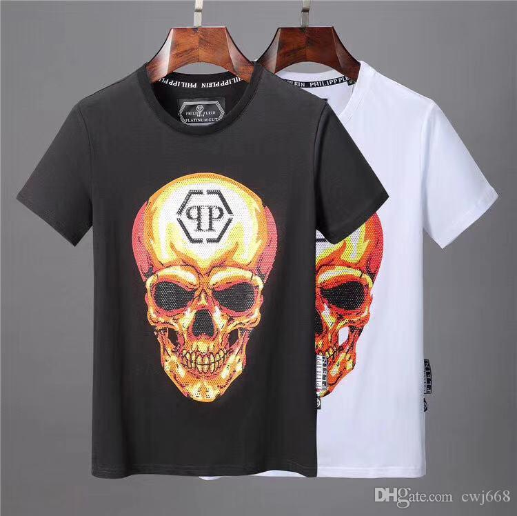 2019 del verano T-camisa de manga corta camisa de los hombres de impresión bolso de la manera gusano del ojo camiseta de los hombres de la marca italiana de las mujeres # 123