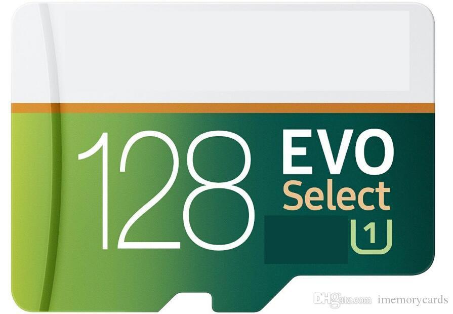 2019 새로운 evo 32 / 64 / 128 / 256GB C10 TF 플래시 카드 10 무료 SD 어댑터 소매 블래스터 팩 Epacket DHL 무료 배송