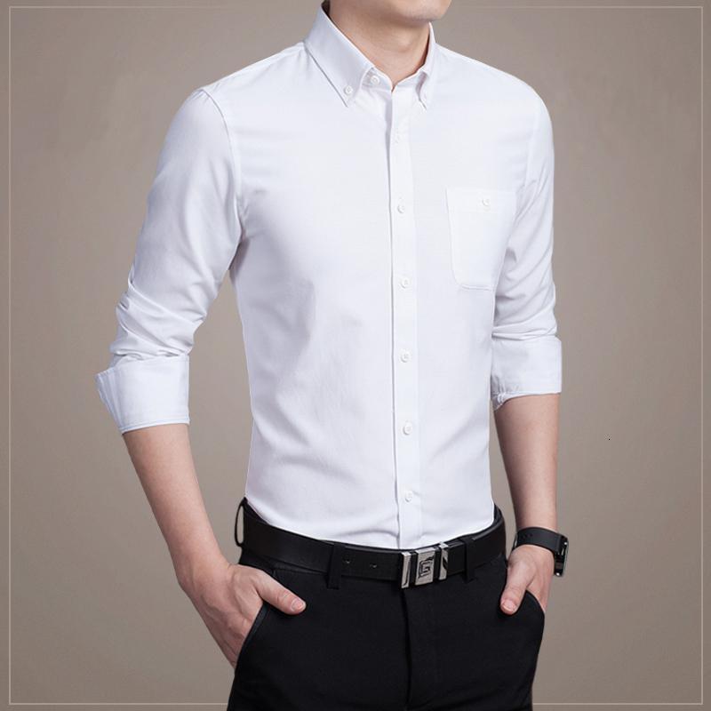 Новый длинный рукав Мужских рубашек Вернуться к 100% хлопку рубашке мужского Slim Fit популярного дизайн M-5XL в 2019 году