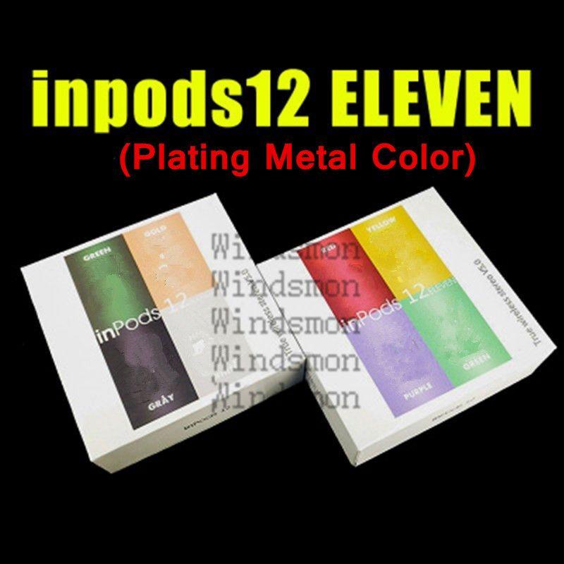 Metal inpods 12 inpods12 i12 Macaron rengi Bluetooth kablosuz TWS kulaklık Tüm Akıllı Telefon pencere dokunmatik kulakiçi Kulaklık açılır