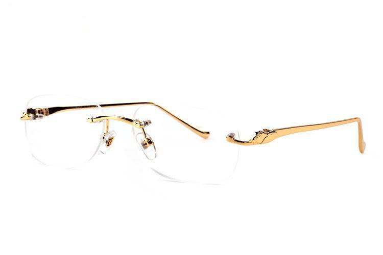 Мода без оправы буйвола рога очки солнцезащитные очки 2019 летние стили мужские дизайнерские солнцезащитные очки для мужчин, женщин, прозрачные линзы с оригинальной коробке