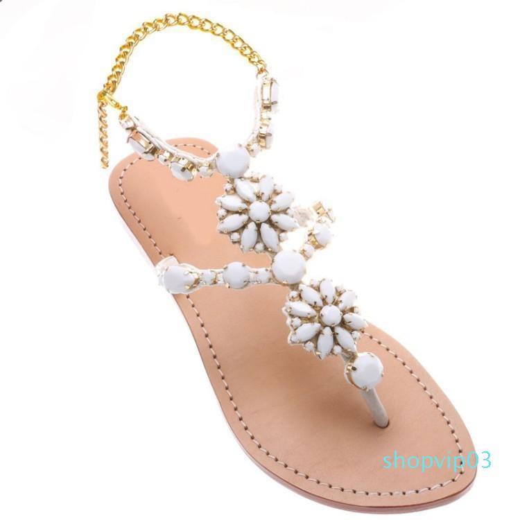 Zapatos de Cifrará Hot2019 apellido El veraniegas espiga sandalias planas de las mujeres