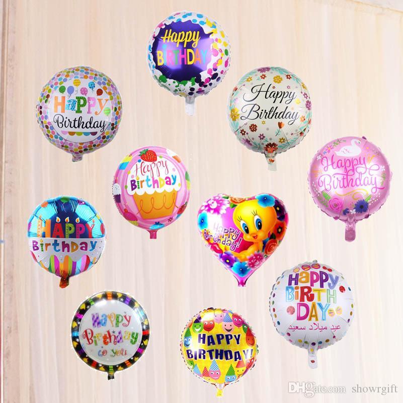 18inch alles Gute zum Geburtstag Aluminiumfolienballons Partydekorationen Helium Unterstützung Spielzeug ballons