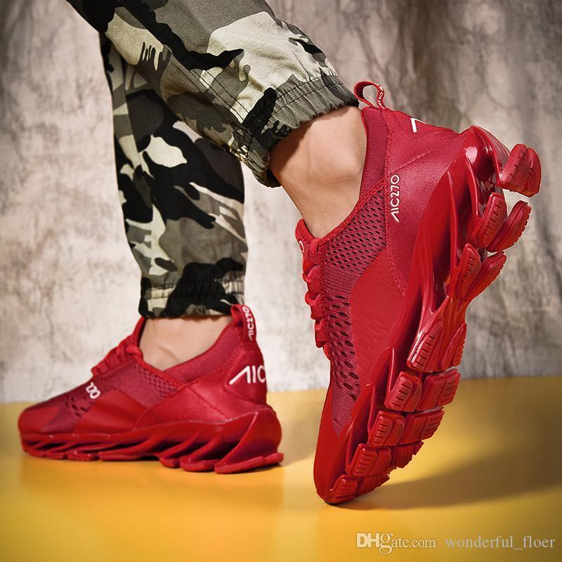 الخريف في 2019 فاخر مصمم أزياء رجالي منصة حذاء مصمم أحذية خمر قيعان الحمراء ثلاثية الهواء الأحذية شفرة عارضة حجم 39-47