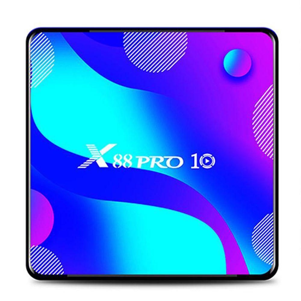 X88 برو 10 Android10 TV Box 4GB 32GB RK3318 2.4G 5G WiFi BT4.1 تعيين أعلى دفق الوسائط مشغل