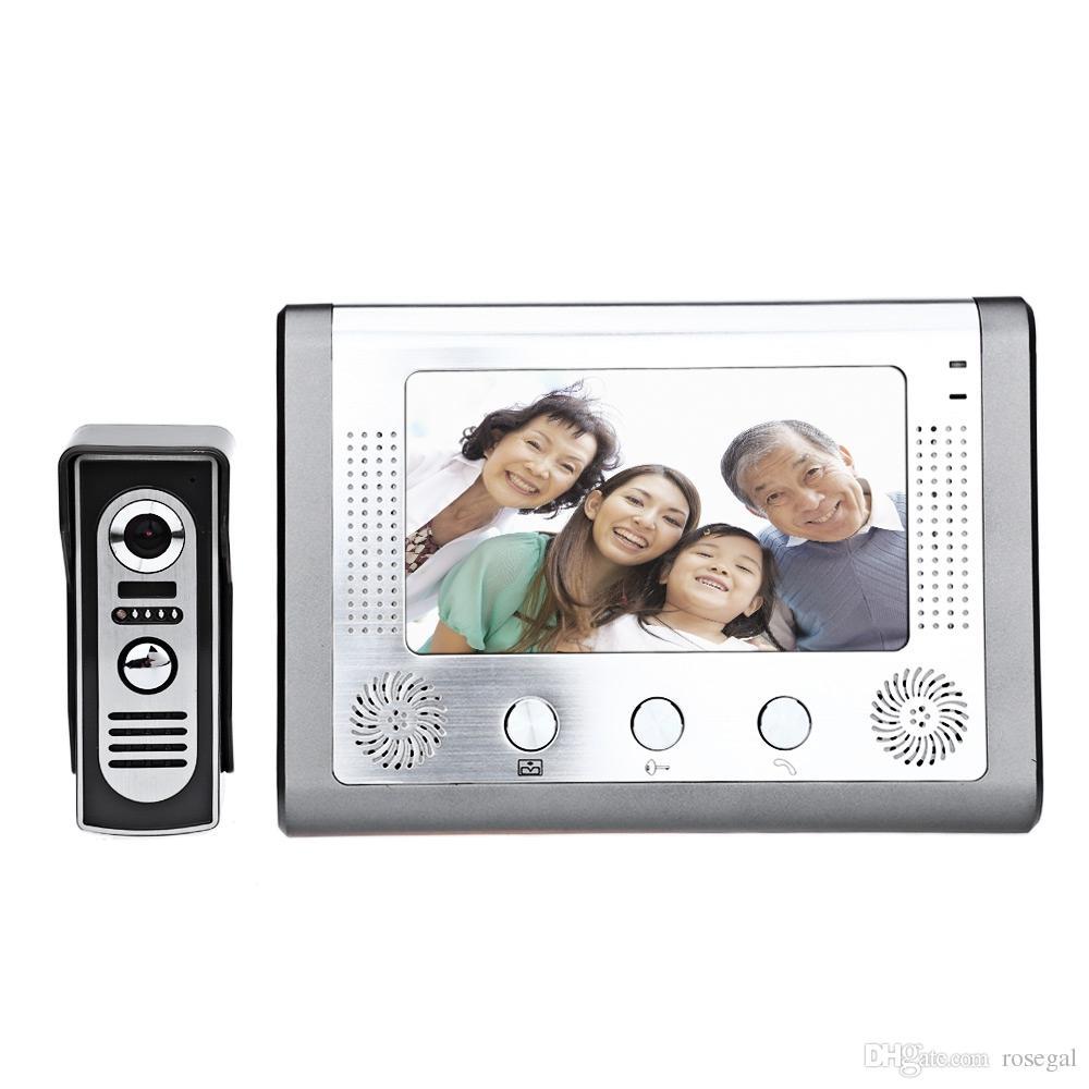 SY801M11 7 Inç TFT Ekran Eller Serbest Video Interkom Kapı Zili Interkom