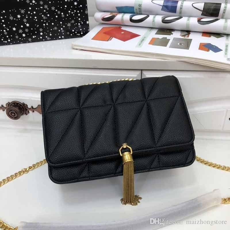 Designer Luxus-Handtasche Kettenbügel Schulter diagonale Y Geldbeutel-Stadtstreicherin-Handtaschen-Designer Quaste Arthandtasche