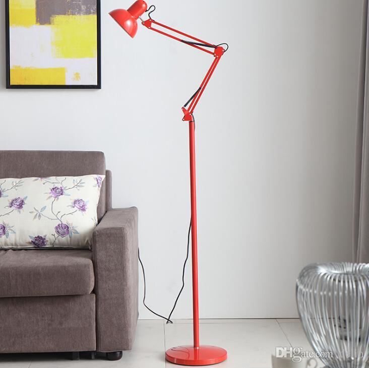 lampe moderne minimaliste nordique de plancher réglable en fer forgé lumières E27 salon chambre cuisine salon étude lampe 110-240V hôtel