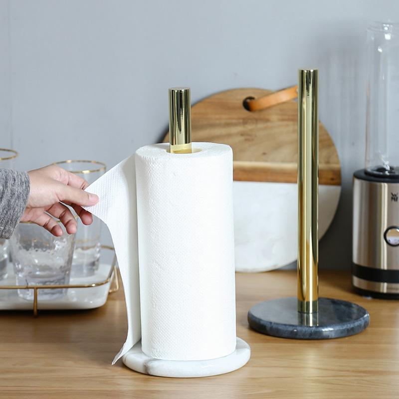 2020 Nordic Retro Style Natural Marble Gold Plated Kitchen Paper Towel Holder Roll Holder Desktop Jewelry Storage Shelf From Shuangyin1999 41 67 Dhgate Com