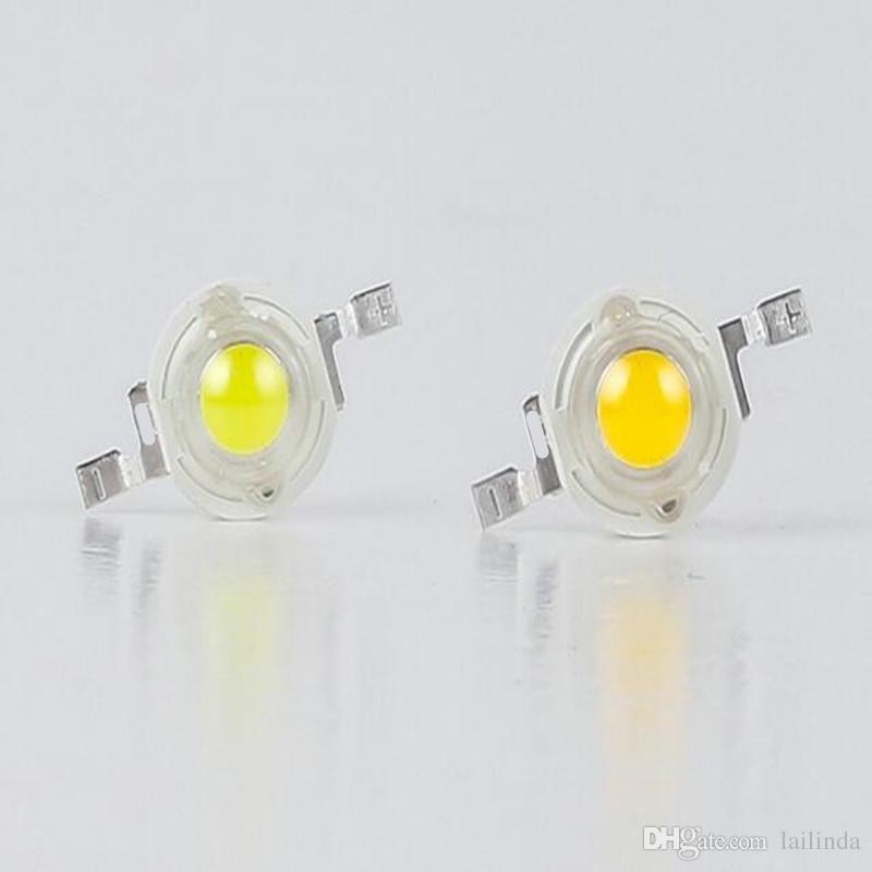 puces LED perles pouvoir hauteur blanc chaud 1Wcool neutre blanc 3000K 4000k 6000k 10000K 20000K 30000K ampoule lampe LED 100pieces
