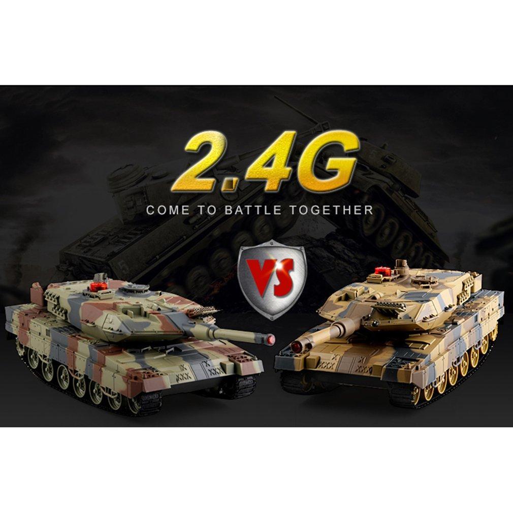 516-10 1/24 RC tanque Crawler IR remoto presentes Controle Brinquedos Simulação infravermelho RC Battle Tank Toy RC Car for kids brinquedos para meninos