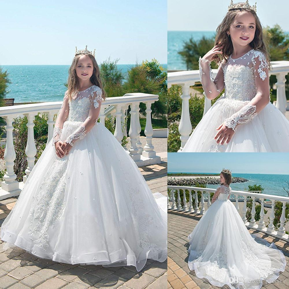Prom Princess Pageant Bridesmaid Wedding Flower Kid Dress Girl/'s Communion Party