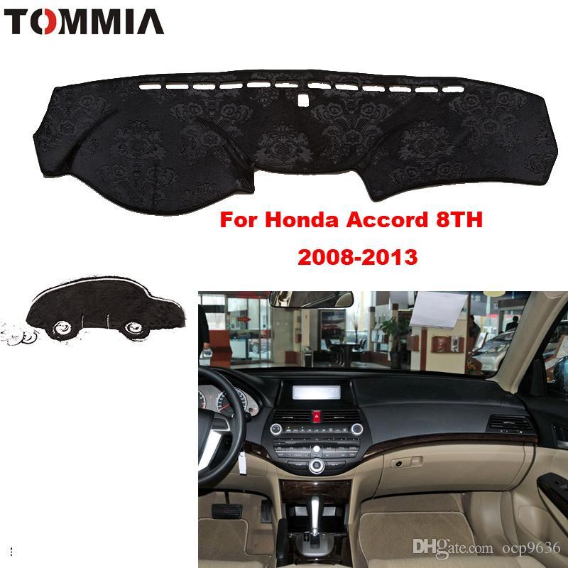 Honda accord 8th 2008-2013 Için araba styling İç Dashboard Pad Kapak Dash Mat Sticker Anti-Güneş Kadife Enstrüman