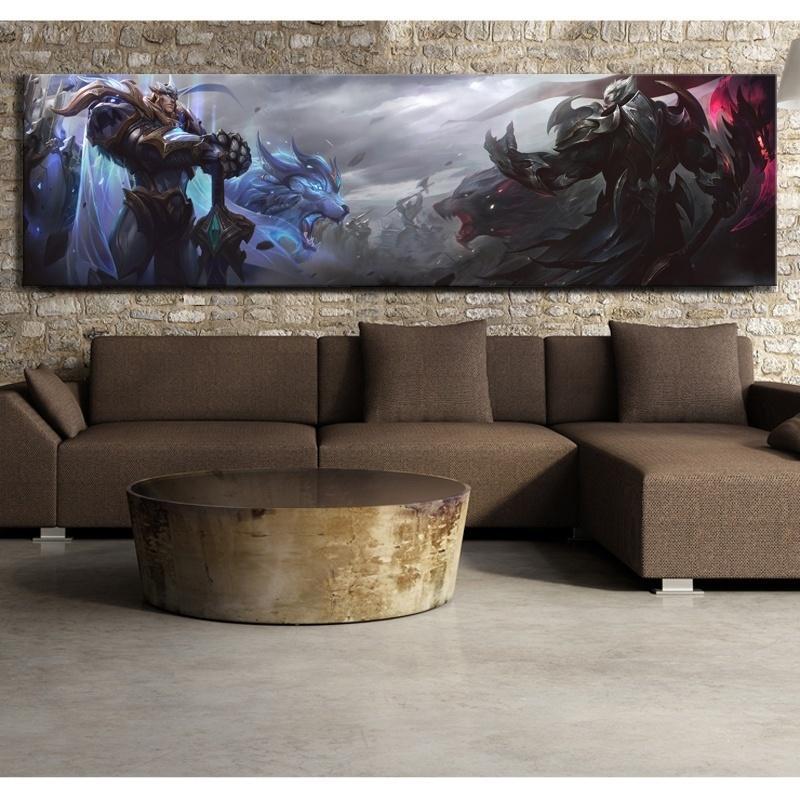 1 Stück Leinwand Poster League of Legends Garens und Darius Gott König Hautvideospiel Poster HD Wandgemälde für Hauptdekor Y200102