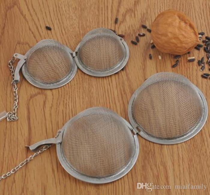 201 304 Paslanmaz Çelik çay demlik 4.5 cm / 5.5 cm / 7 cm / 9 cm Çay Pot Demlik Küre Örgü Çay Süzgeci Topu Epacket