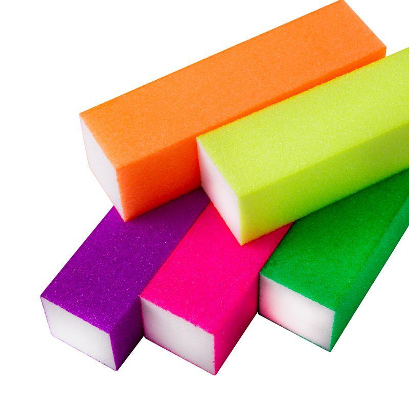 10 pcs Nail Art Dicas Arquivo Buffer Toufu Fluorescência Lixamento Polimento Buffer Buffing Bolonamento UV Gel Polonês Manicure Ferramentas Definido