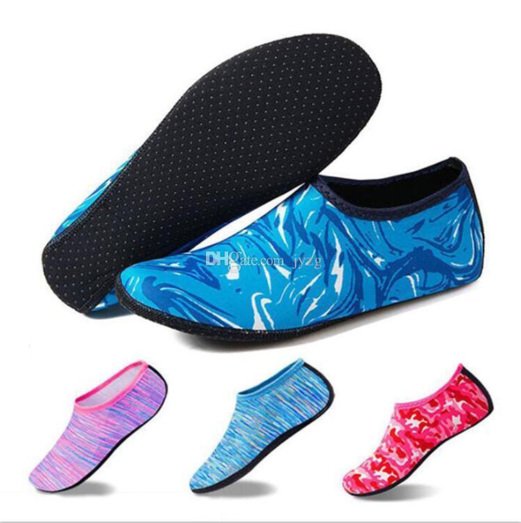 Praia de Natação Esporte Meias Esportivas Crianças Homens Mulheres Snorkeling Anti Deslizamento Sapatos de Dança Yoga Surf Mergulho Sapatos de Camuflagem Listrado