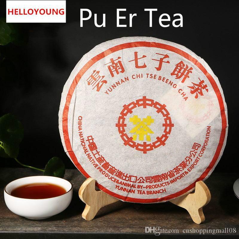 357g Юньнань Классический Зрелый пуэр чай торт Organic Natural Black пуэр чай Старое дерево Приготовленные Promotion еда Пуэр Чай зеленый