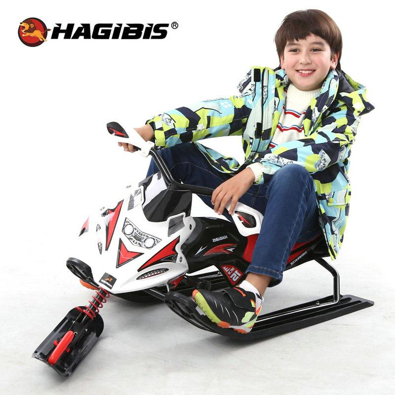 Snow Scooter with Brake Snowmobile Snow Moto Zip And Slide On Grass