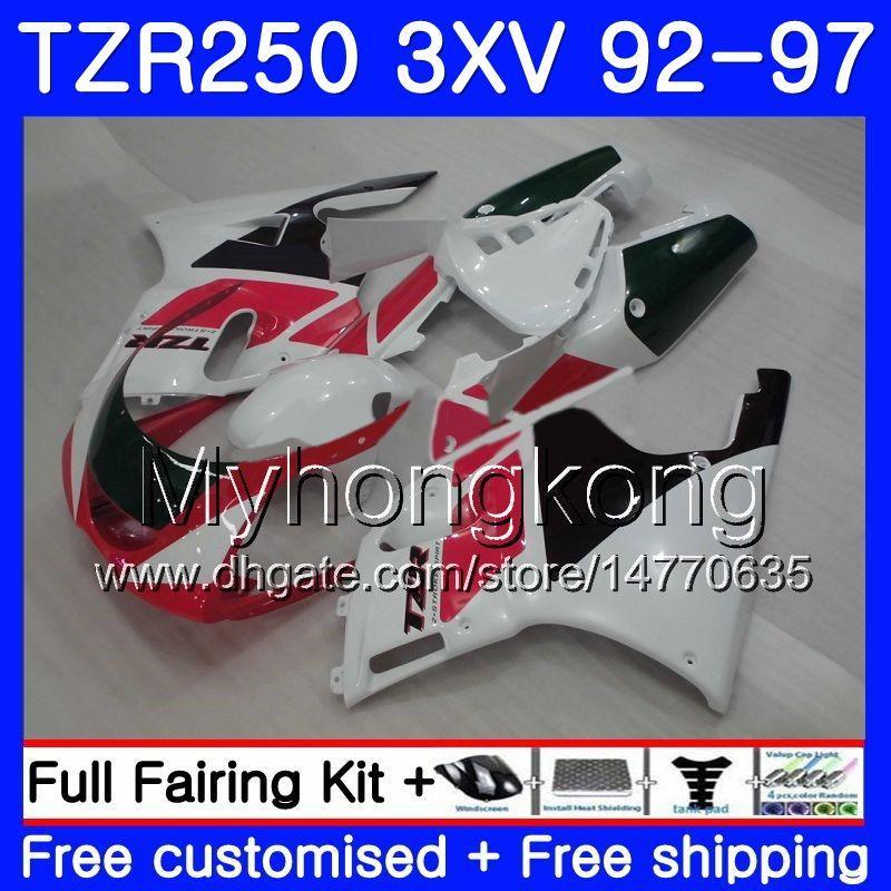 Kit Black for Yamaha Tzr 250 3xv YPVS 화이트 New TZR-250 92 93 94 95 96 97 245HM.18 TZR250RR RS TZR250 1992 1994 1994 1995 1996 1997 Fairing