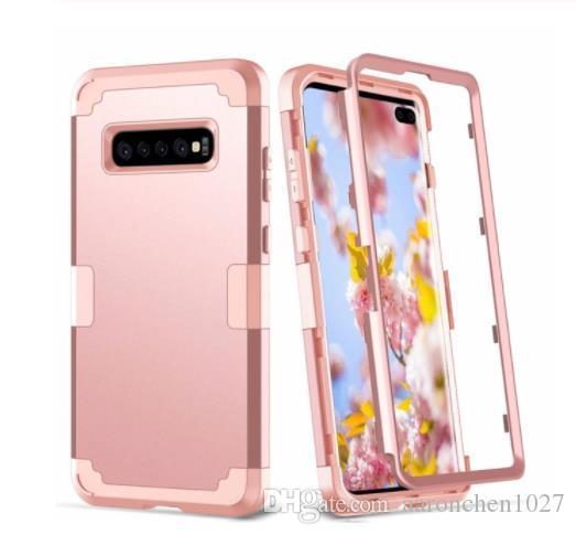Para Samsung Galaxy S10 S9 S8 Plus Nota 8 9 10 protectora de la caja a prueba de golpes de 3 capas de silicona suave Diseñador caja del teléfono de servicio pesado