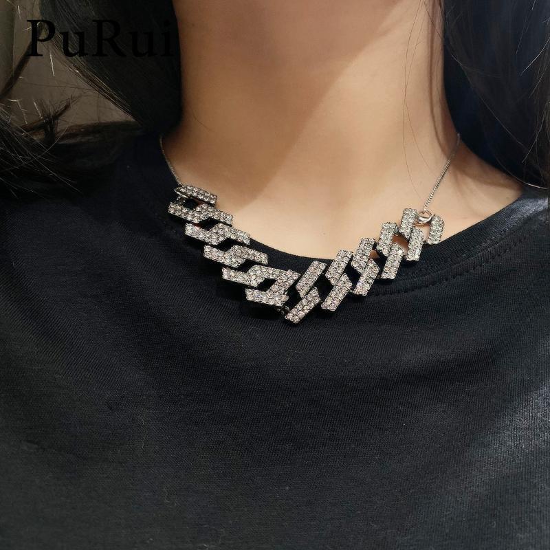 QA/_ Fashion Women Heart Crystal Rhinestone Silver Chain Pendant Necklace Jewel