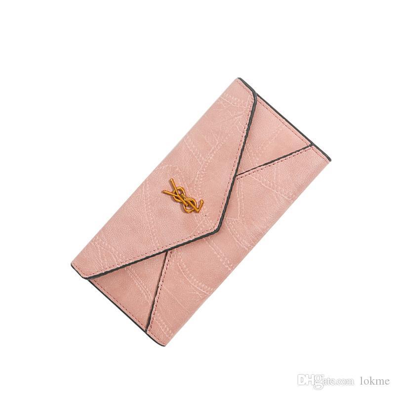 Las nuevas señoras carpeta larga, clásico de la PU Bolsa de teléfono, titular de la tarjeta Multi famoso moda bolso de la moneda retro plegable de la PU Cartera de lujo VIP regalo Clut