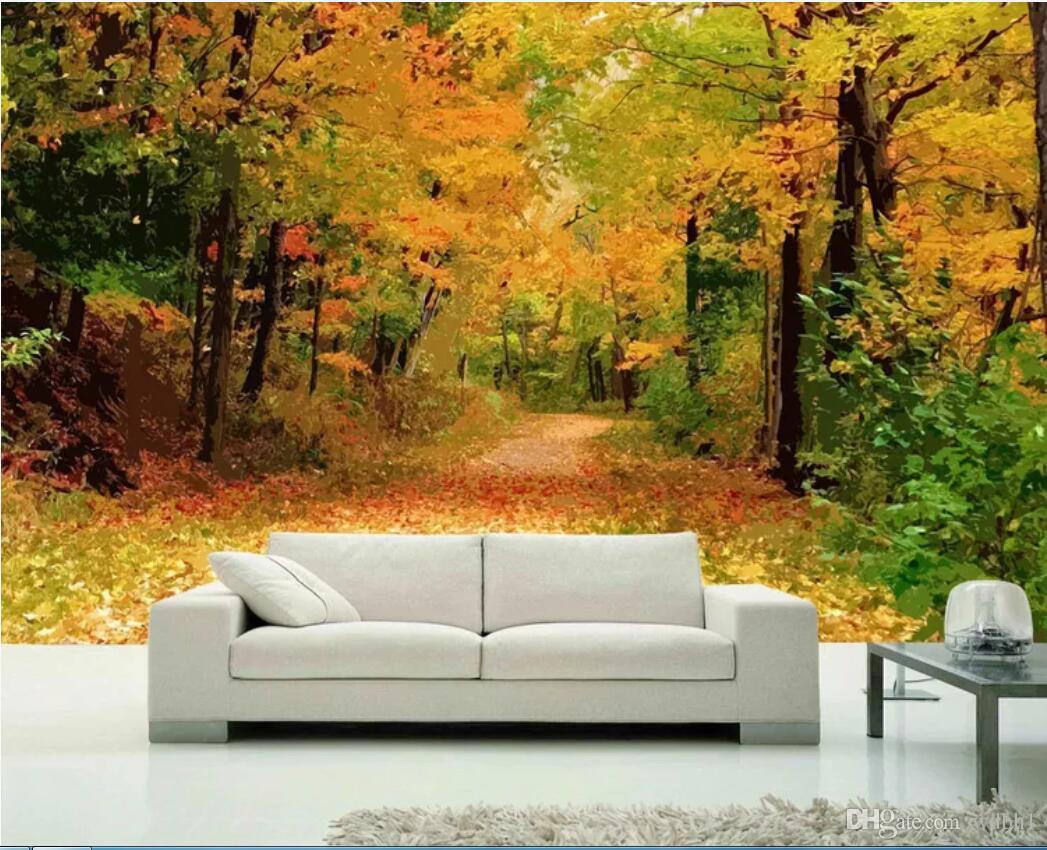 Papel tapiz 3D de la habitación foto mural personalizado Solsticio de verano camino del bosque estilo europeo moderno salón sofá papel tapiz de fondo para paredes 3 d