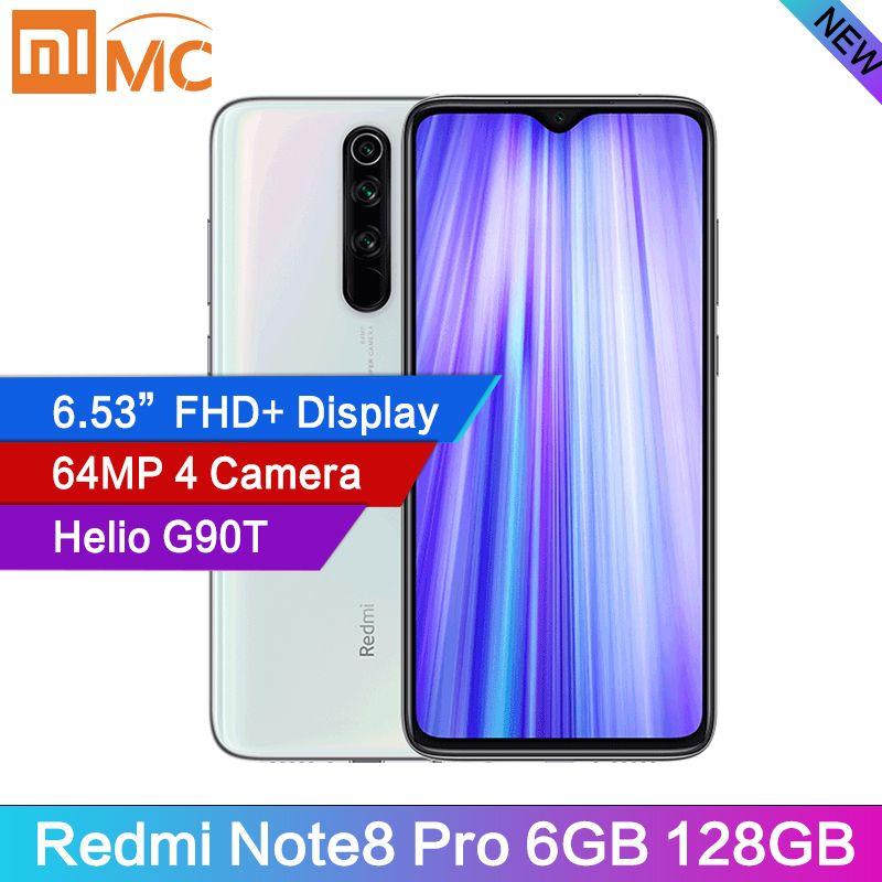 100/% ORIGINAL 6GB 128GB Smartphone Xiaomi Redmi Note 8 Pro 64MP NFC Octa Core HD