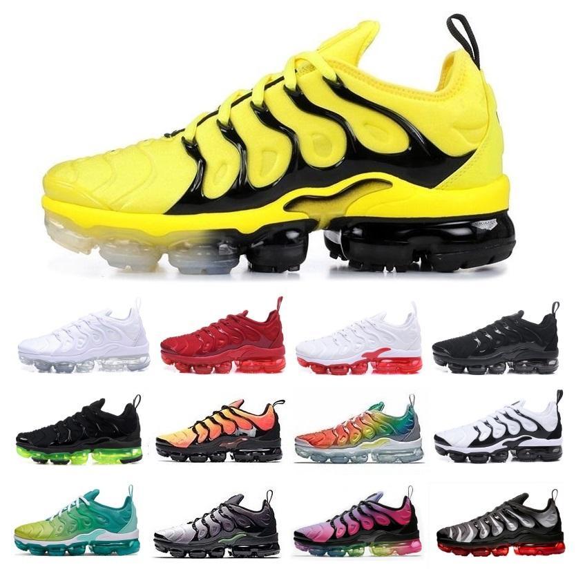 2020 tn artı erkek tasarımcı koşu ayakkabıları kadınlar rahat hava yastığı eğitmenler yabanarısı siyah beyaz kırmızı gökkuşağı mavi pembe spor ayakkabı 36-45