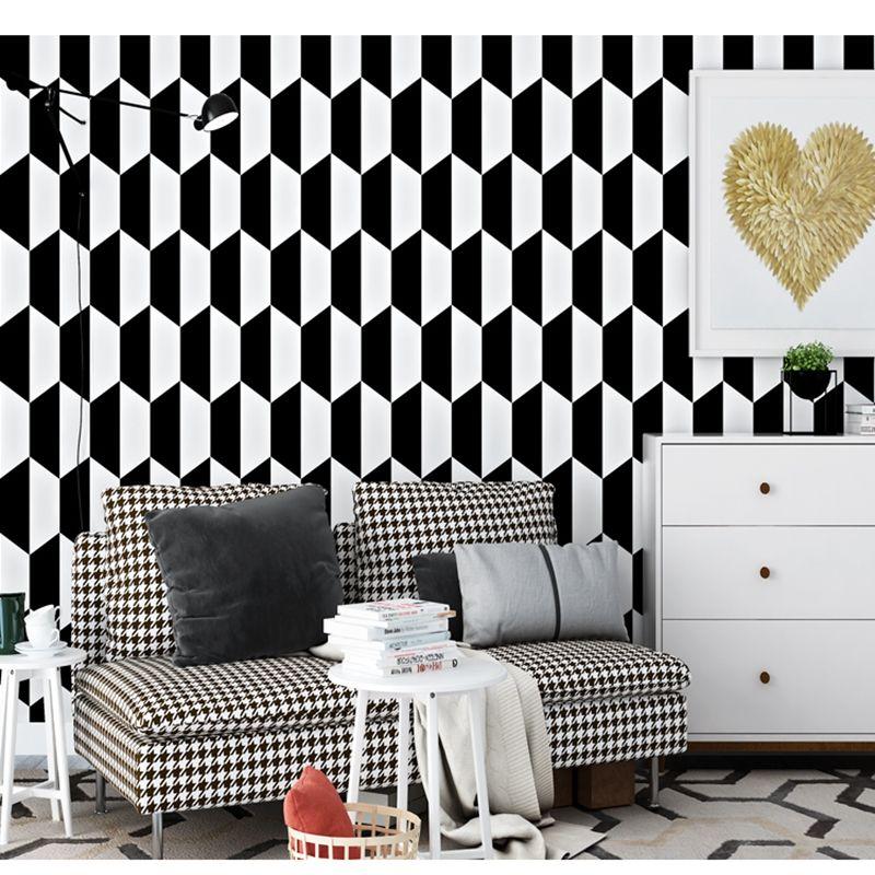 Black & white geometric wall patterns