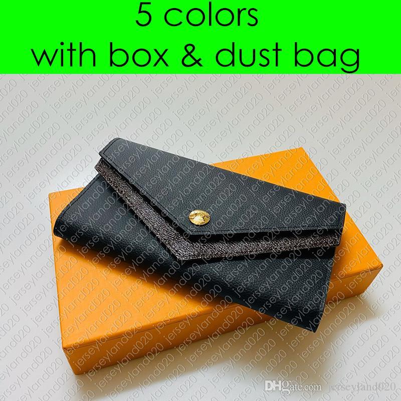 M64319 DOUBLE V-Shaped WALLET Designer Fashion Women Long Flap Wallet Zipped Coin Card Holder Mini Pochette Accessoires Purse Key Pouch Cles