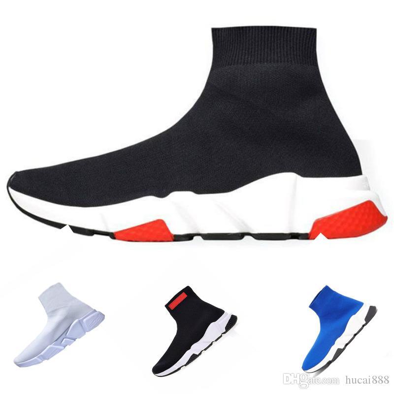 Balenciaga socks and shoes air jordan off white slipper vepormax nmd basketball vans men shoes Hommes Femmes Noir Rouge Casual Chaussures De Mode Chaussettes Baskets Haut Bottes